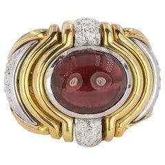 18 Karat Tourmaline Cabochon Ring