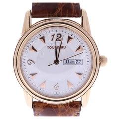 18 Karat Tourneau Men's Beige Dial Wrist Watch Certified Pre-Owned
