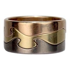18 Karat Tri-Color Gold Fusion Ring by Nina Koppel for Georg Jensen