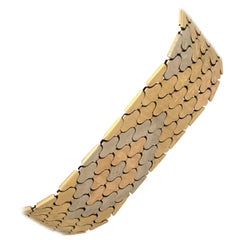 18 Karat Tri-Color Gold Vintage Ladies Bracelet