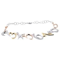 18 Karat Tri-Tone Diamond 1, 2, 3, 4, 5, 6, 7, 8, 9 Collar Necklace
