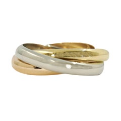 18 Karat Tricolor Gold Rolling Ring