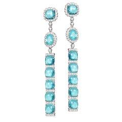 18 Karat Trinity Paraiba Earrings