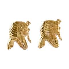 18 Karat Tutankhamun Egyptian Pharaoh Cufflinks