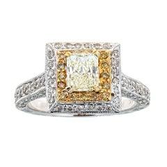18 Karat Two-Tone Gold and 2.15 Carat Diamond Ring