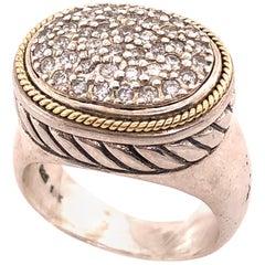 18 Karat Two-Tone Gold Effy Fashion Ring with Diamonds