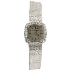 18 Karat Vacheron Constantin Diamond Watch White Gold circa 1960 Swiss