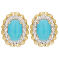 18 Karat Van Cleef & Arpels Turquoise Earrings