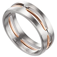Furrer Jacot 18 Karat White and Rose Gold Two-Tone Wire Band
