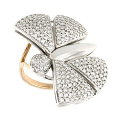 18 Karat White and Rose Gold with Diamonds Ring
