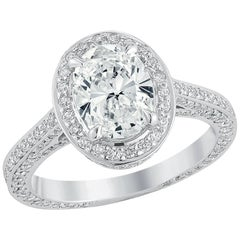 18 Karat White God Engagement Ring