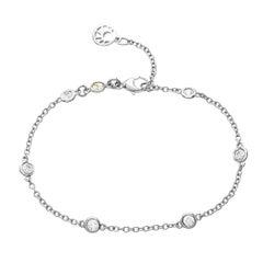 18 Karat White Gold 0.55 Diamond Chain Bracelet