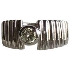 18 Karat White Gold 0.56 Carat Solitaire Diamond Ring