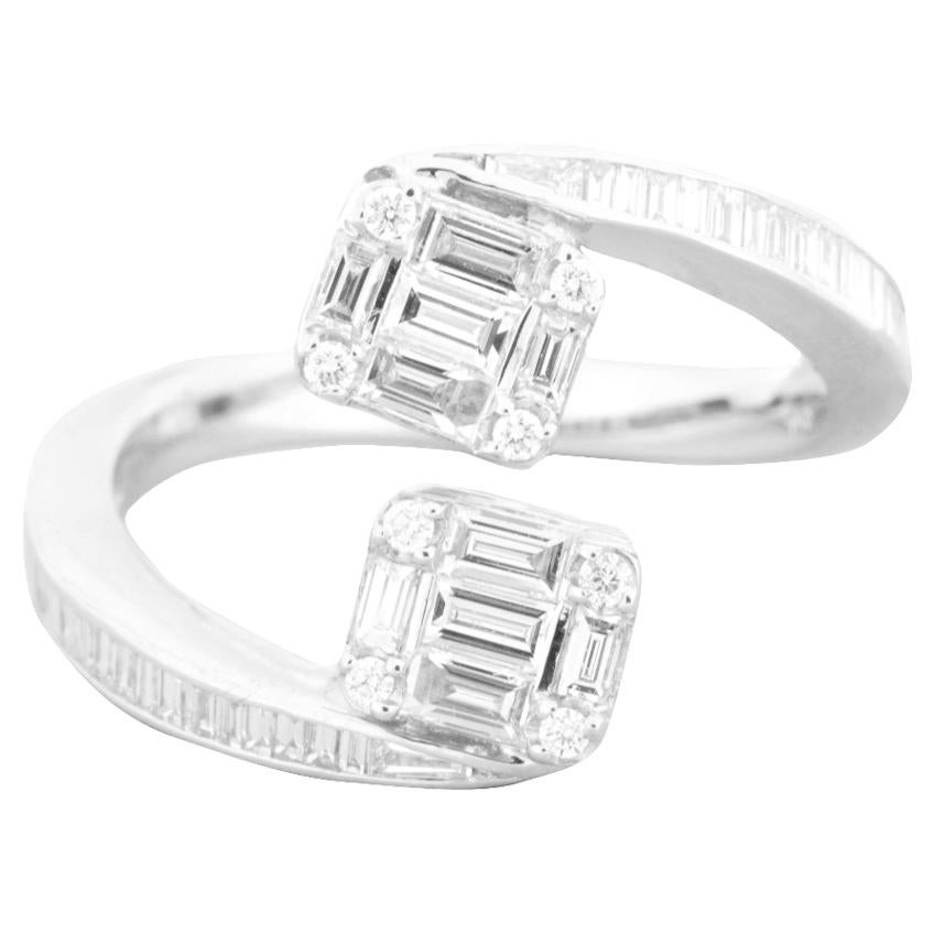 diamond engagement ring in 18 k white gold best place to. Black Bedroom Furniture Sets. Home Design Ideas