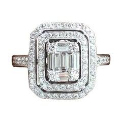 18 Karat White Gold 1.00 Carat Diamond Engagement Ring