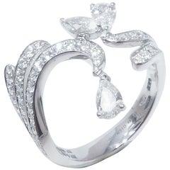 18 Karat White Gold 1.21 Carat White Diamonds Ring