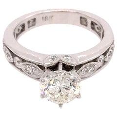 18 Karat White Gold 1.32 Carat Diamond Engagement Ring
