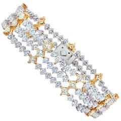 18 Karat White Gold 13.50 Carat Diamond Bracelet