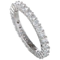 18 Karat White Gold, 1.39 Carat Diamond Eternity Band Ring