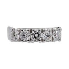 18 Karat White Gold 1.50 Carat Diamond Brilliant-Cut Eternity Band Wedding Ring