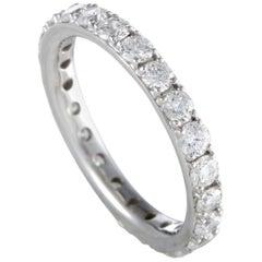 18 Karat White Gold, 1.56 Carat Diamond Eternity Band Ring