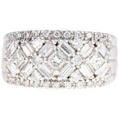 18 Karat White Gold 2 Carat Diamond Cluster Ring