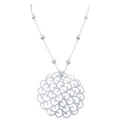 18 Karat White Gold 2.24 Carat White Diamonds Pendant