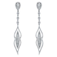 18 Karat White Gold 2.25 Carat Diamond Earrings