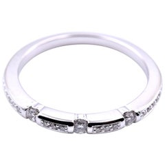 18 Karat White Gold .25 Carat Diamond Band