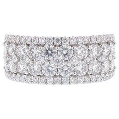 18 Karat White Gold 2.50 Carat Round Diamond Ring