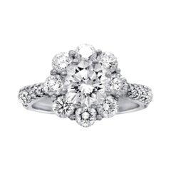 18 Karat White Gold 3.25 Carat Diamond Engagement Ring