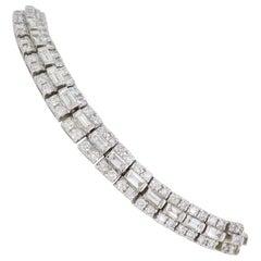 18 Karat White Gold 4.60 Carat Diamond Bracelet
