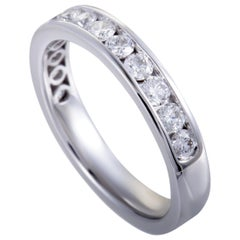 18 Karat White Gold, .75 Carat Diamond Band Ring