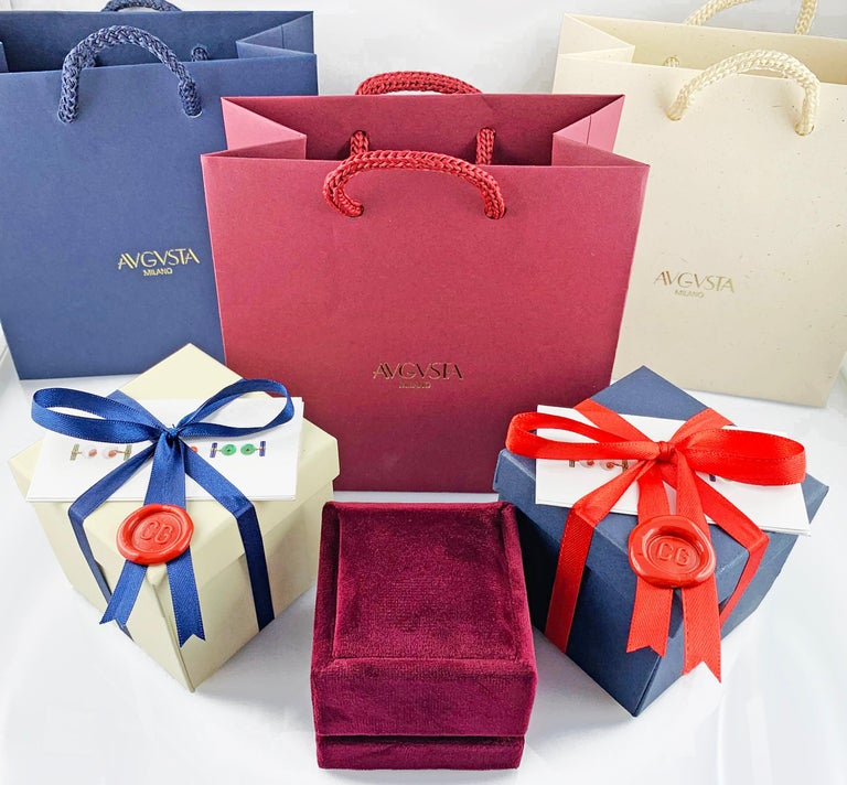18 Karat White Gold Acquamarine Diamonds Ring  For Sale 12