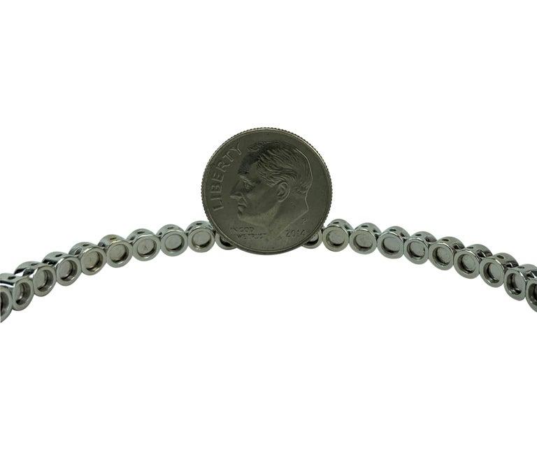 Women's 18 Karat White Gold and 3.4 Carat Black Diamond Flex Bangle Bracelet For Sale