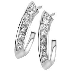 18 Karat White Gold and Brown Diamond Flow Earring