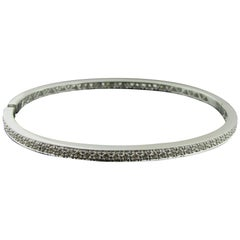 18 Karat White Gold and Diamond Bangle