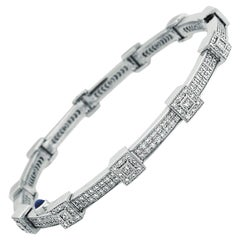 18 Karat White Gold and Diamond Bracelet