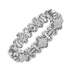 18 Karat White Gold and Diamond Bracelet