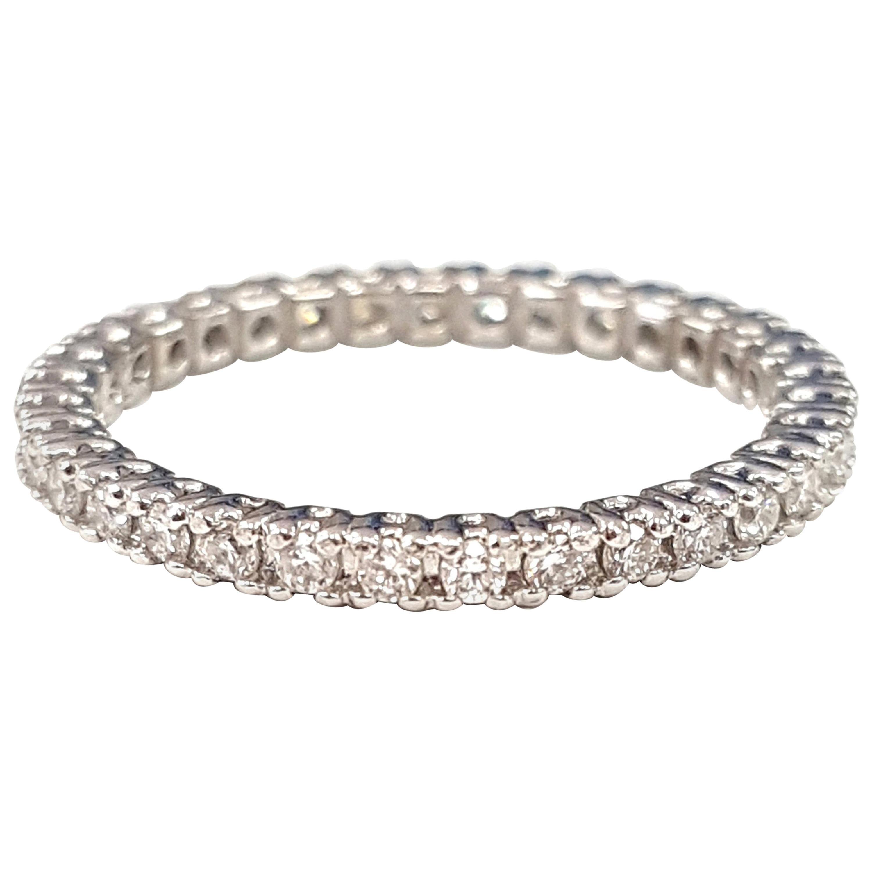 18 Karat White Gold and Diamond Eternity Ring