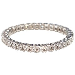 18 Karat White Gold and Diamond Eternity Ring