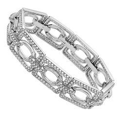 18 Karat White Gold and Diamond Fashion Bracelet