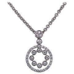 18 Karat White Gold and Diamond Pendant or Necklace