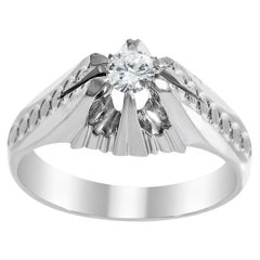 18 Karat White Gold and Diamond Ring