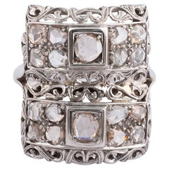 18 Karat White Gold and Diamond Ring
