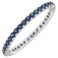 18 Karat White Gold and Sapphire Eternity Ring