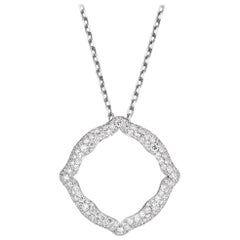18 Karat White Gold and White Diamonds Pendant
