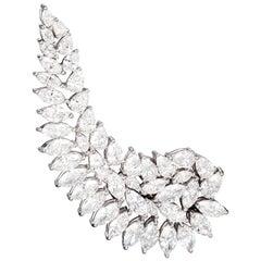 18 Karat White Gold and White Diamonds Single Earring