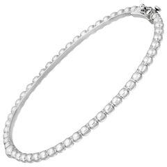 18 Karat White Gold Beaded Bangle Bracelet