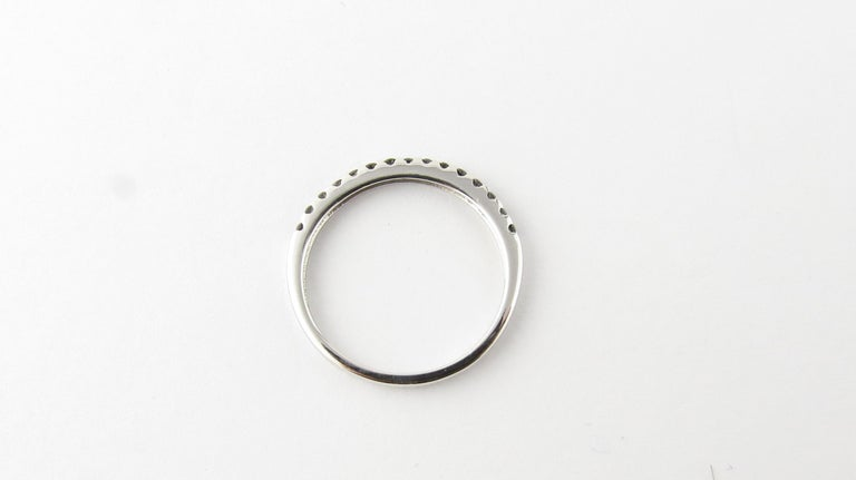18 Karat White Gold Black Diamond Ring For Sale 2